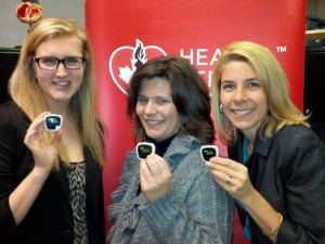 Chelsea, Cori-Lynn & Lisa showing off their pedometers