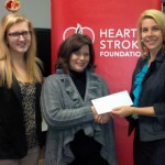 Cheque Presentation with the Heart & Stroke Foundation